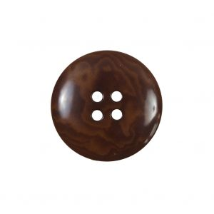 Amber 4-Hole Horn Button - 36L/23mm