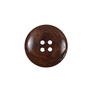 Amber 4-Hole Horn Button - 32L/20mm