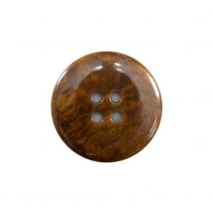 Dark Olive Green 4-Hole Horn Button - 36L/23mm