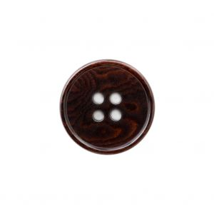 Chocolate Brown 4-Hole Horn Button - 30L/19mm