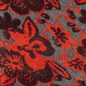 Italian Red, Gray and Oxblood Floral Chunky Wool Knit