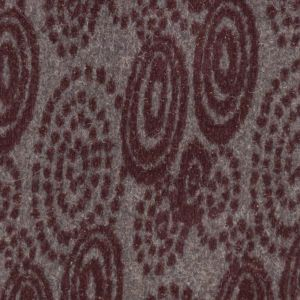 Italian Burgundy and Gray Patterned Chunky Wool Knit