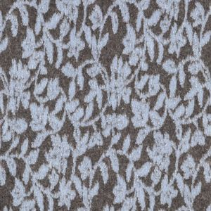 Italian Blue and Brown Floral Chunky Wool Knit