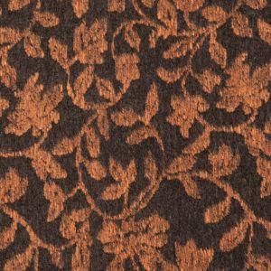 Italian Orange and Brown Floral Chunky Wool Knit