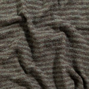 Italian Brown and Gray Striped Chunky Wool Knit