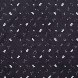 Mood Exclusive Midnight Navy and White Small Supplies Mercerized Cotton Voile