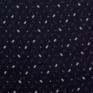 Mood Exclusive Midnight Navy and White Small Supplies Stretch Carbon Brush Twill