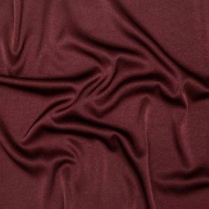 Italian Decadent Brown Stretch Satin-Faced Crepe