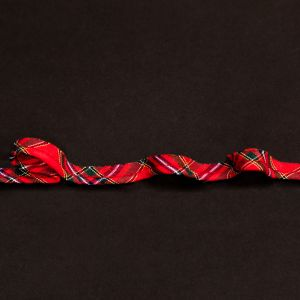Italian Red, Green and Yellow Plaid Bias Piping Cord with Lip - 0.375