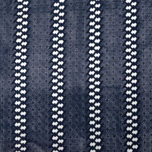 Navy Polyester Lace with Finished Edges