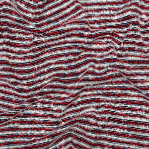 Red, White and Blue Blended Wool Tweed