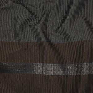 Black Acetate Quilted Coating with Wool Filler