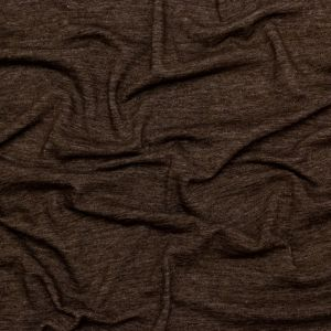 Heathered Brown Brushed Wool Knit