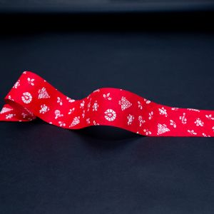 Red and White Christmas Ribbon - 1.875