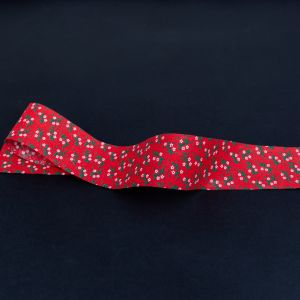 Red, Green and White Floral Christmas Ribbon - 1.875