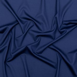 Radiant Navy Stretch Wool Suiting