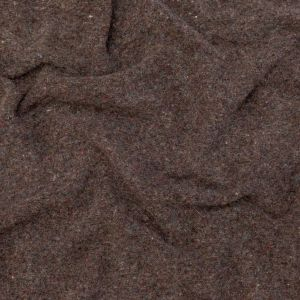 Muted Brown Heathered and Speckled Fuzzy Wool Knit