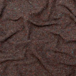 Brown Heathered and Speckled Fuzzy Wool Knit