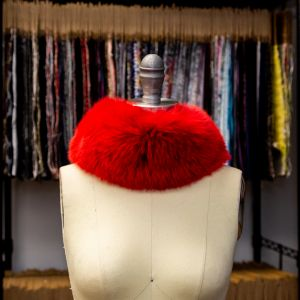 Red Fox Fur Headband or Scarf with VELCRO® Closure