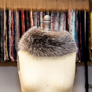 Blue Frost Fox Fur Headband or Scarf with VELCRO® Closure