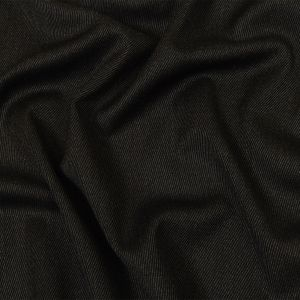 Italian Navy and Brown Heathered Stretch Wool Twill Suiting
