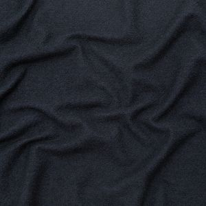 Navy Wool Boucle with a Cotton Backing