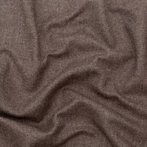 Italian Heathered Brown and Gray Double Faced Wool Twill Coating