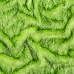 Neon Green and Black Thick Faux Fur