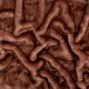 Brown and Mauve Thick Faux Fur