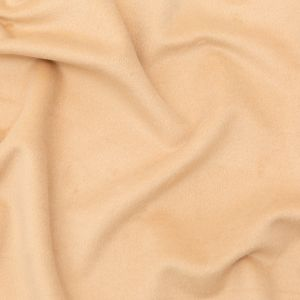 Italian Beige Faux Camel Hair Coating with White Jersey Backing