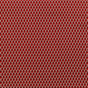 Red and Beige Geometric Stretch Cotton Print
