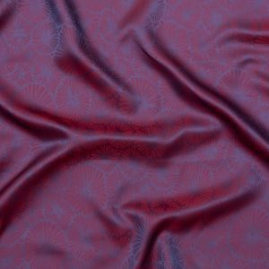 Red and Purple Bi-Color Floral Jacquard Lining