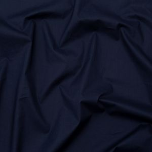 Muted Navy Waxed Cotton Poplin with Give