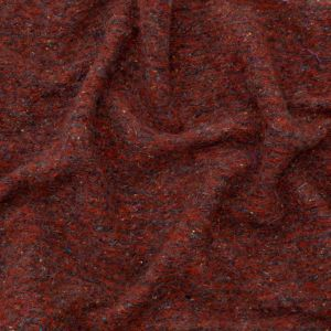 Italian Red and Gray Speckled Fuzzy Wool Knit