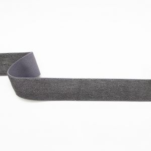 Italian Gray Elastic French Terry Trimming - 1.75