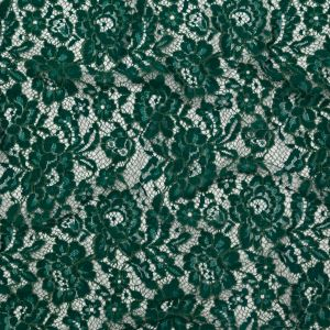 Emerald Floral Re-Embroidered Dentelle Lace