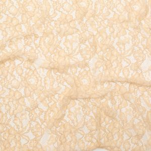 Apricot Illusion Floral Re-Embroidered Dentelle Lace