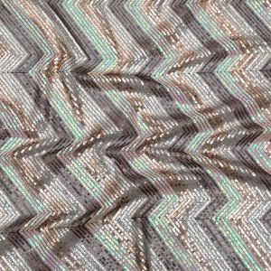 Iridescent Pink, Black, Rose Gold and Silver Zig Zag Baby Sequins