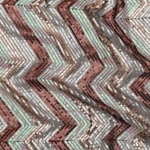Iridescent Pink, Rust, Rose Gold and Silver Zig Zag Baby Sequins