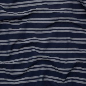 Black Iris and Turbulence Striped Polyester Faille