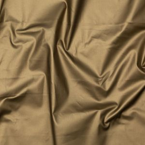 Italian Army Green Stretch Cotton Twill with a Metallic Antique Gold Laminate