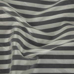Cannoli Cream Organza with Woven Awning Stripes