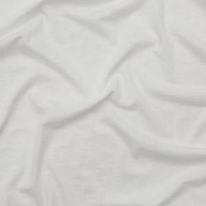 Helmut Lang Optic White Cotton and Cashmere Jersey
