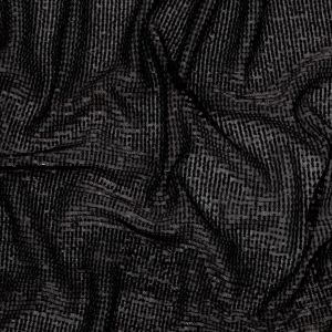 Milly Black Pleated Tulle with All-Over Baby Sequins