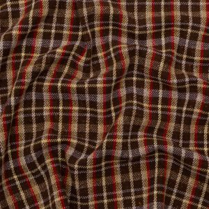Italian Chestnut, Ginger Snap and Ruby Plaid Wool Coating