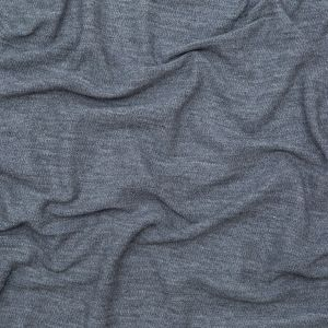 Italian Heathered Gray Creped Stretch Knit