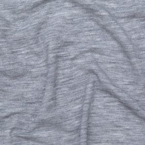 Italian Heathered Light Gray Creped Stretch Knit