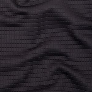 Italian Black Rectangular Quilted Stretch Knit