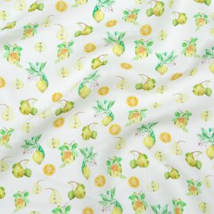 Pears, Oranges and Lemons Printed Linen Woven