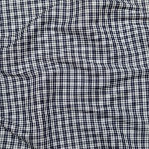 Parisian Night and White Plaid Linen and Rayon Woven